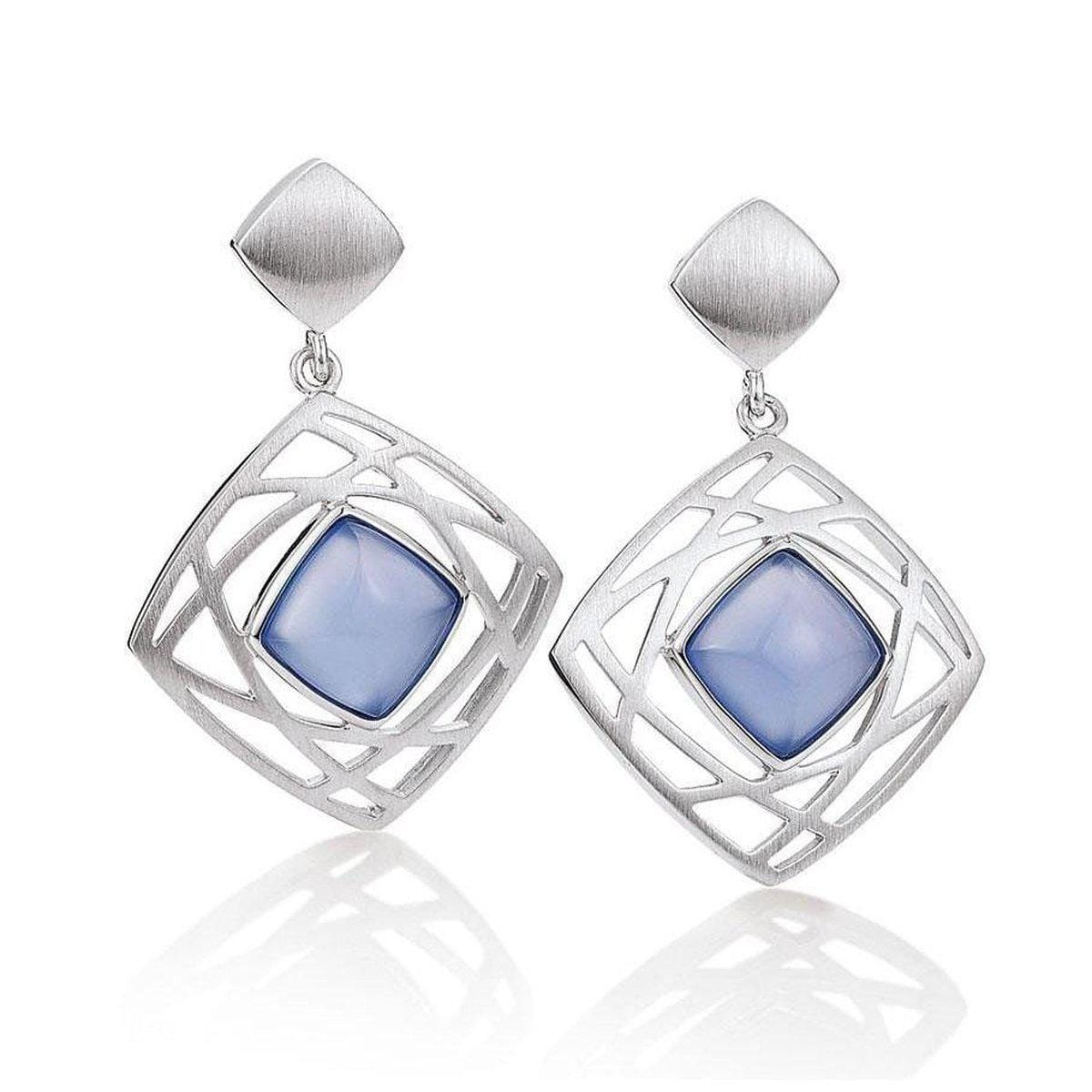 Sterling Silver Chalcedony Earrings - 12/02003-CH-Breuning-Renee Taylor Gallery