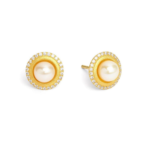Disana Freshwater Pearl Zirconia Earrings - 19254656-Bernd Wolf-Renee Taylor Gallery