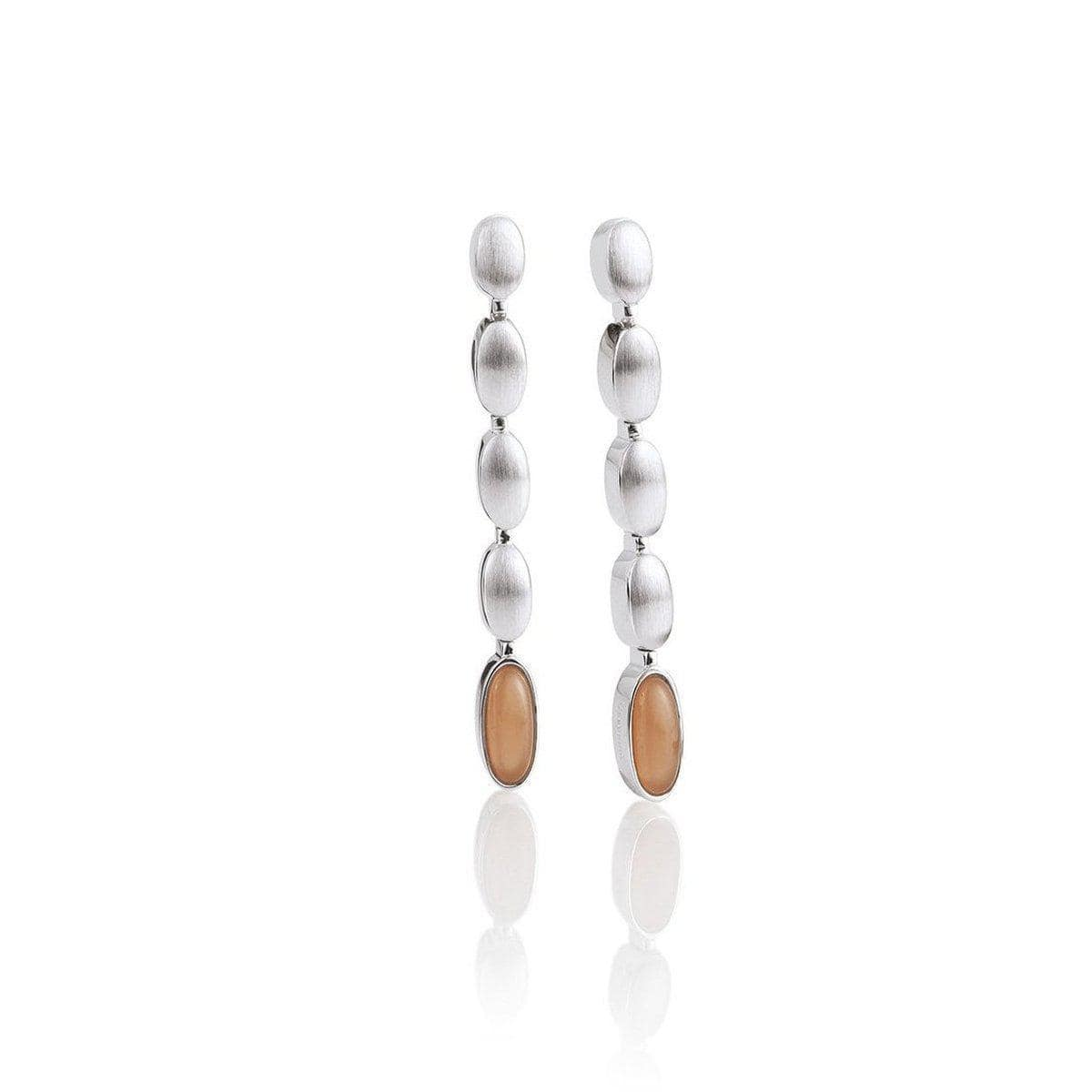 Sterling Silver Moonstone Honey Moon Earrings - 12/02018-Breuning-Renee Taylor Gallery