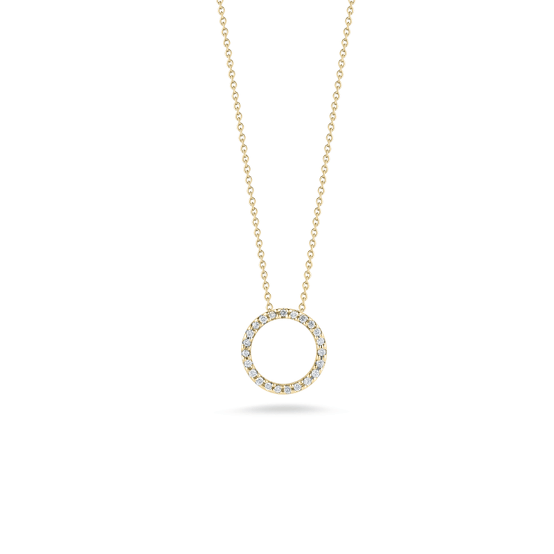 18k Yellow Gold & Diamond Necklace - 001258AYCHX0-Roberto Coin-Renee Taylor Gallery