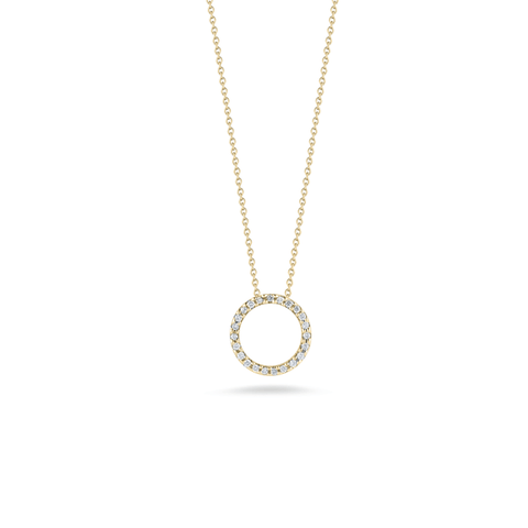 18k Yellow Gold & Diamond Necklace - 001258AYCHX0 - Roberto Coin