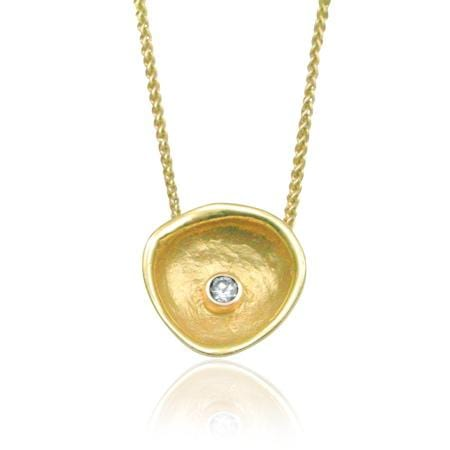 Confluence Single Cup Diamond Pendant - 10 P 3-2-1 G Y-Sarah Graham-Renee Taylor Gallery