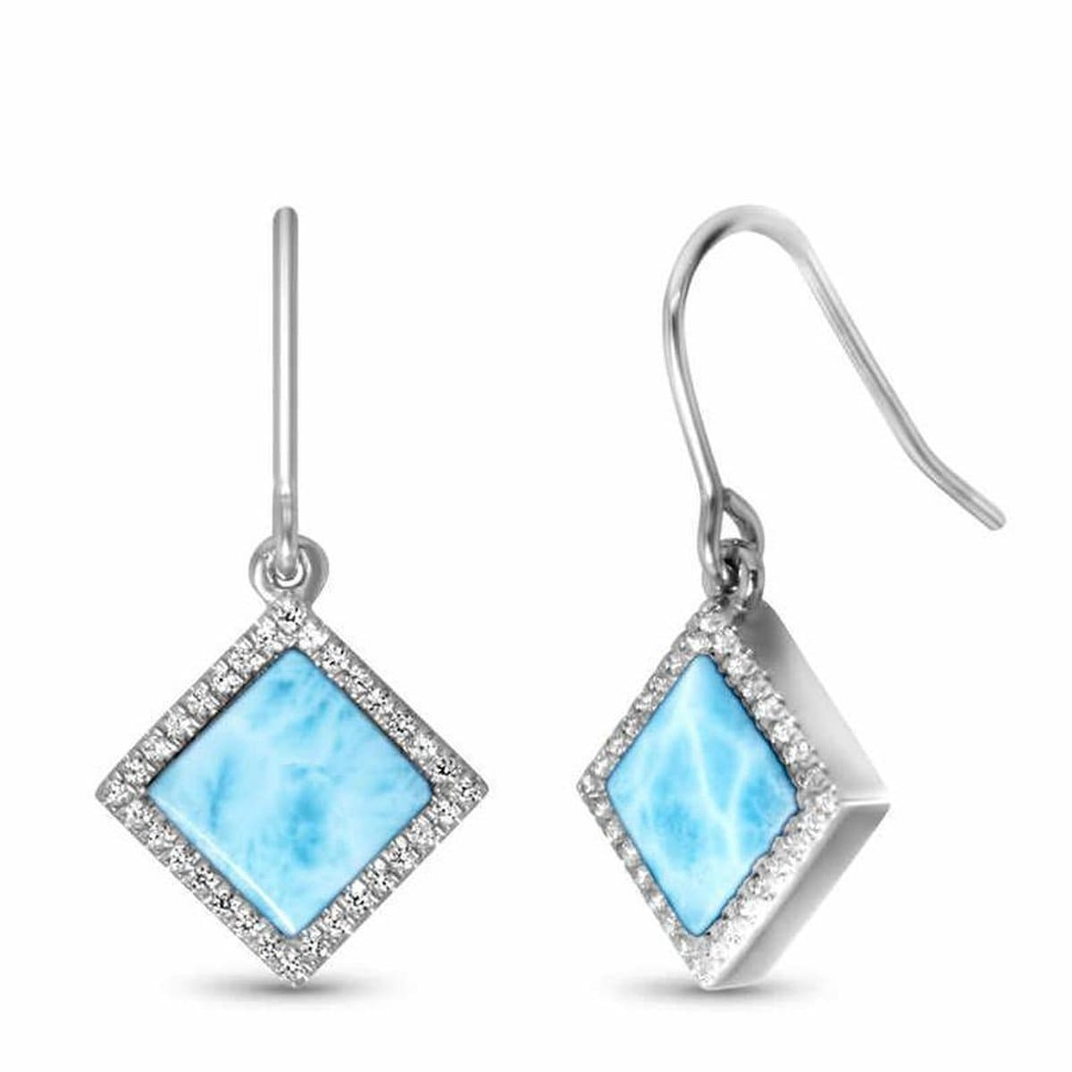 Echo Earrings - Eecho00-00-Marahlago Larimar-Renee Taylor Gallery