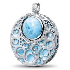 Flora Necklace - Nflor01-00-Marahlago Larimar-Renee Taylor Gallery