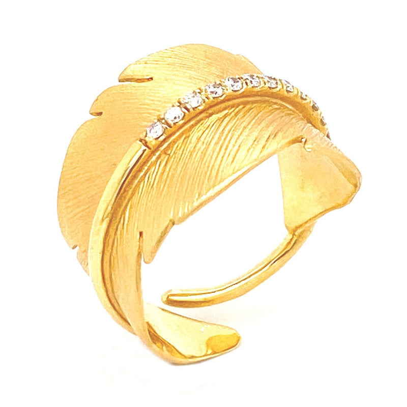 Marika Diamond & 14k Gold Ring - MA4155-Marika-Renee Taylor Gallery