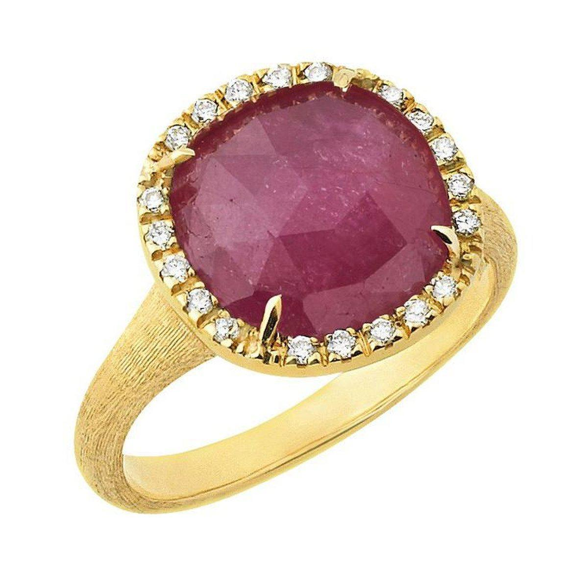 18K Jaipur Diamond Pink Sapphire Ring - AB449 B2 ZR01 Y-Marco Bicego-Renee Taylor Gallery