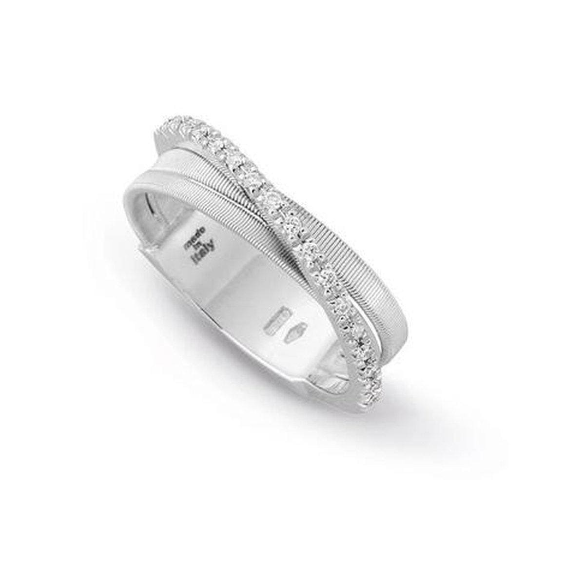 18K Goa 3 Row Diamond Ring - AG314 B W