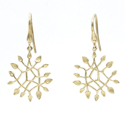 14K Yellow & White Gold Earrings - 903E+W-Y-Leon Israel Designs-Renee Taylor Gallery