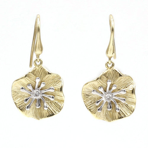 14K Yellow & White Gold Diamond Earrings - 760MD+W-YW-Leon Israel Designs-Renee Taylor Gallery