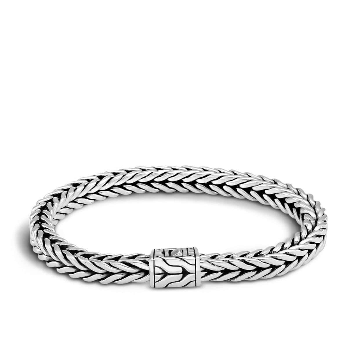 Classic Chain Men's Silver Small Square Bracelet - BM982C-John Hardy-Renee Taylor Gallery