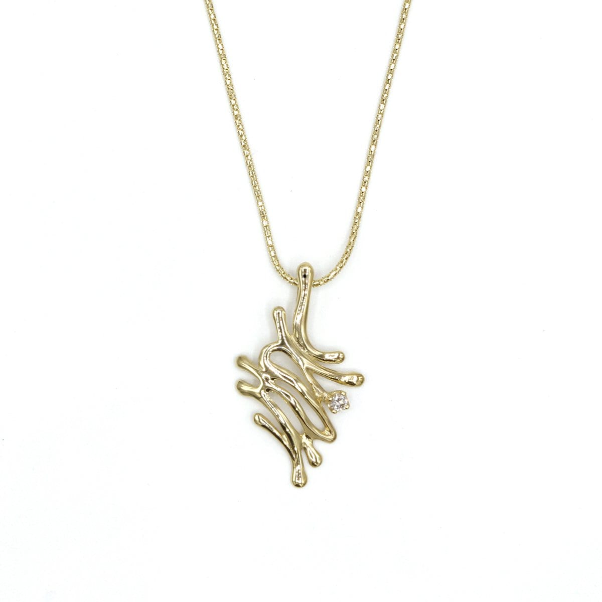 14k Gold & Diamond Pendant - 369D-Y+YCH