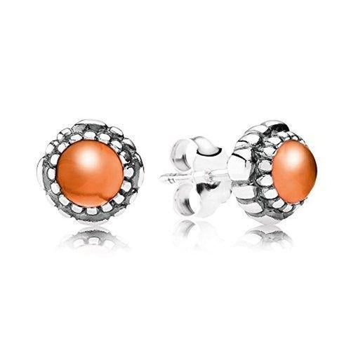 Birthday Blooms July Carnelian Earrings - 290543CAR-Pandora-Renee Taylor Gallery