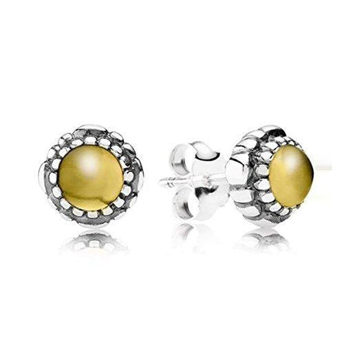 Birthday Blooms November Citrine Earrings - 290543CIG-Pandora-Renee Taylor Gallery