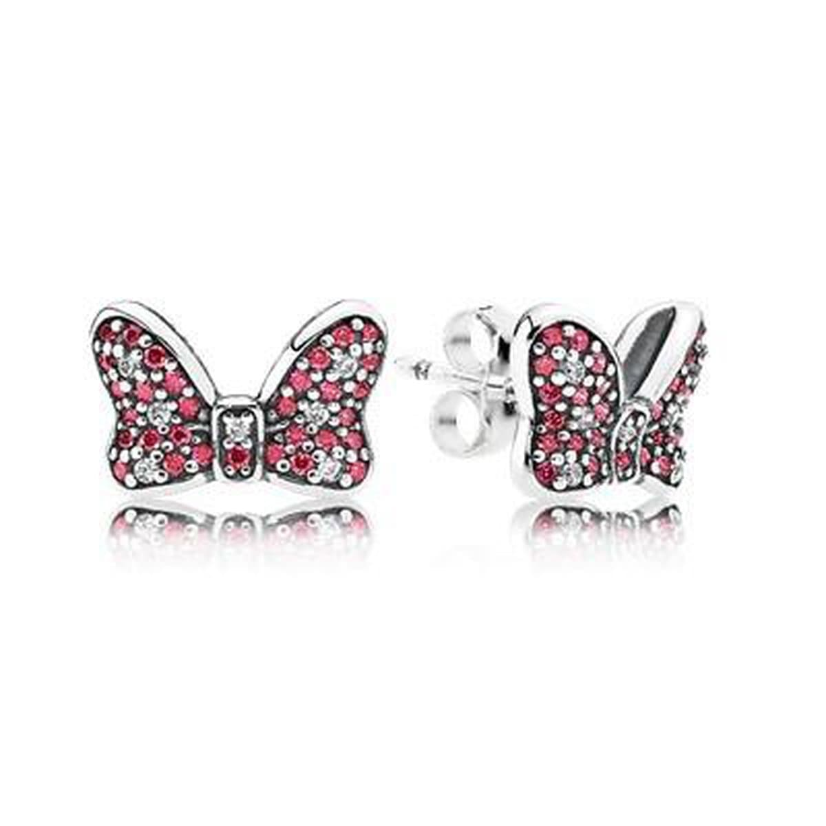 Disney Minnie's Sparkling Bow Earrings - 290578CZR-Pandora-Renee Taylor Gallery