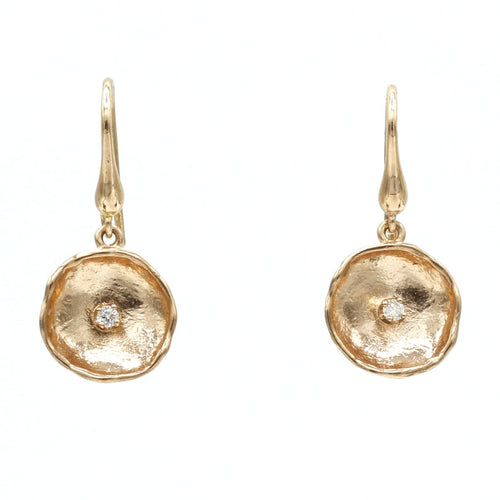 14K Rose Gold Diamond Earrings - 812LD+W-R-Leon Israel Designs-Renee Taylor Gallery