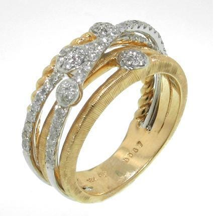 18k Yellow & White Gold & Diamond Ring - R1980-YG-Jayne New York-Renee Taylor Gallery