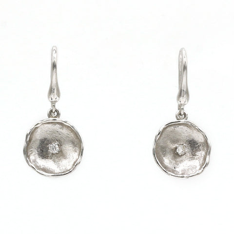 14K White Gold Diamond Earrings - 812LD+W-W-Leon Israel Designs-Renee Taylor Gallery