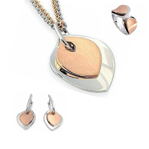 Rose Gold Plated Sterling Silver Earrings - 06/60783 - Breuning