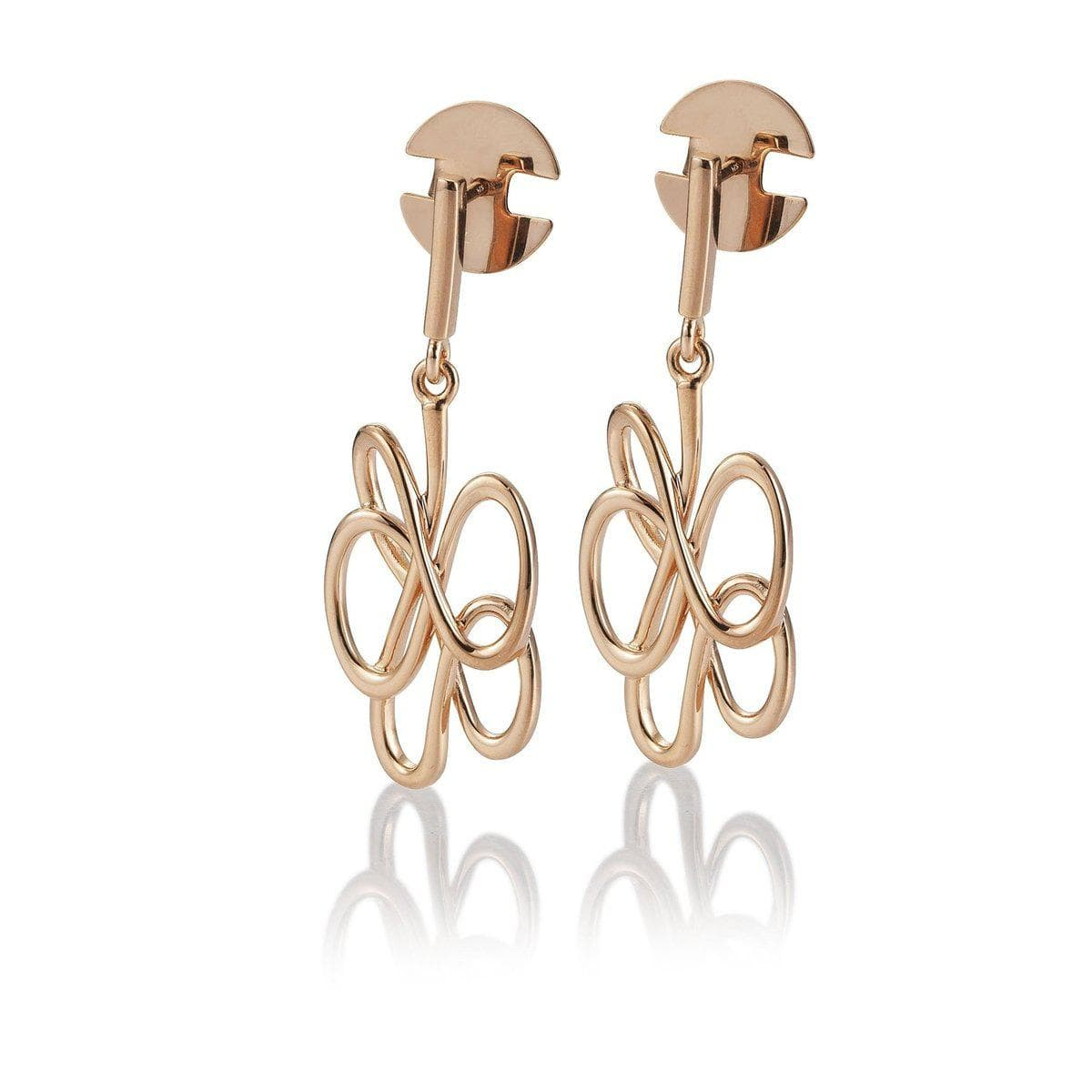 Rose Gold Plated Sterling Silver Earrings - 14/02626-Breuning-Renee Taylor Gallery