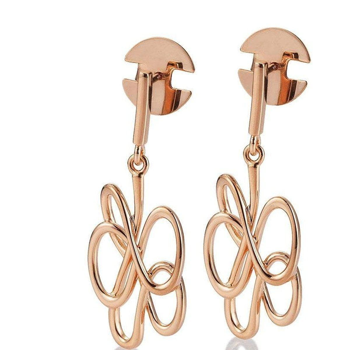 Rose Gold Plated Sterling Silver Earrings - 14/02626 - Breuning