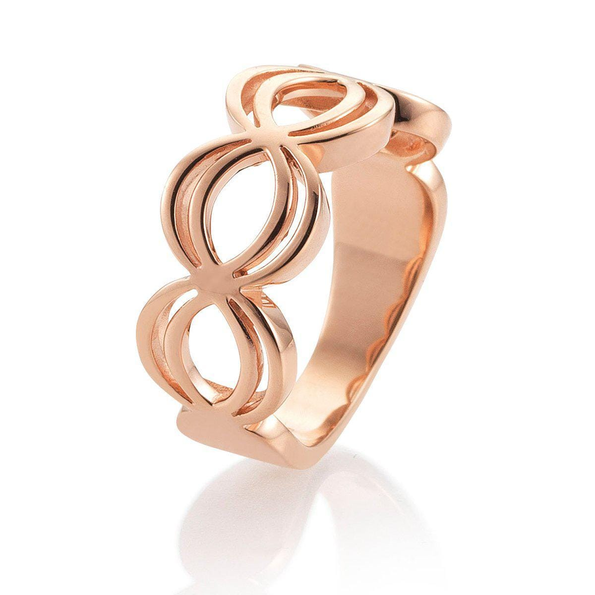 Rose Gold Plated Sterling Silver Ring - 44/01510-Breuning-Renee Taylor Gallery