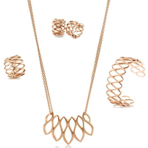 Rose Gold Plated Sterling Silver Necklace - 64/01206-Breuning-Renee Taylor Gallery