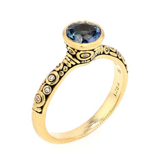 18K Martini Blue Sapphire & Diamond Ring - R-127-Alex Sepkus-Renee Taylor Gallery