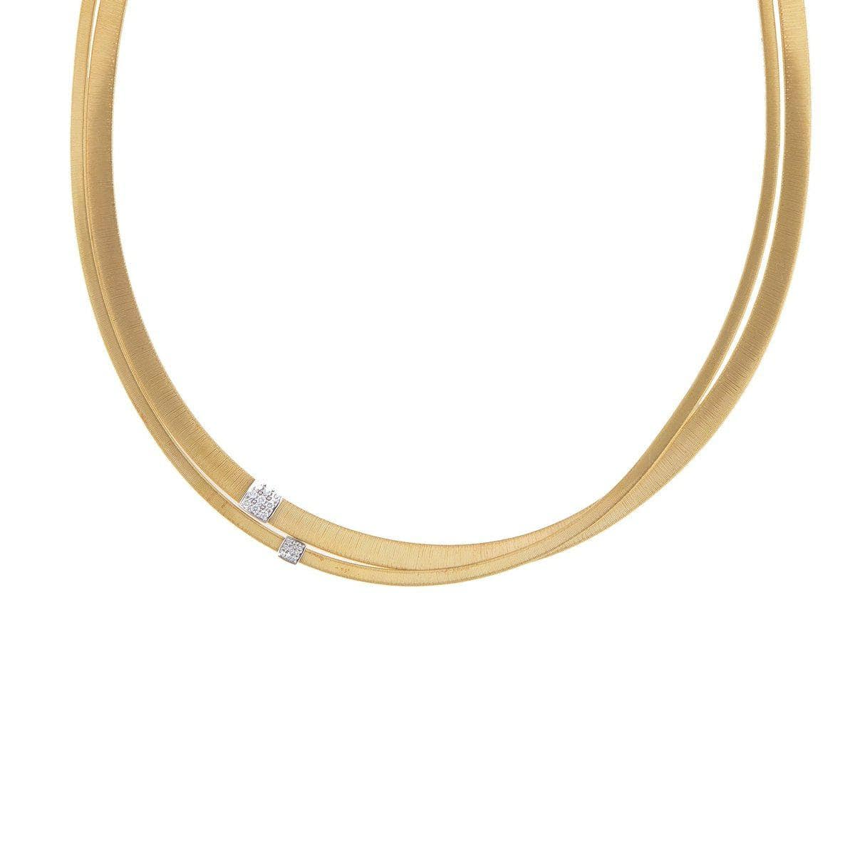 18K Masai Necklace - CG738 B YW 16.5""