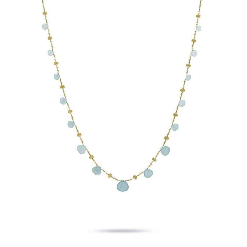 "18K Paradise Necklace - CB1865 AQ01 Y 16.5""-Marco Bicego-Renee Taylor Gallery"