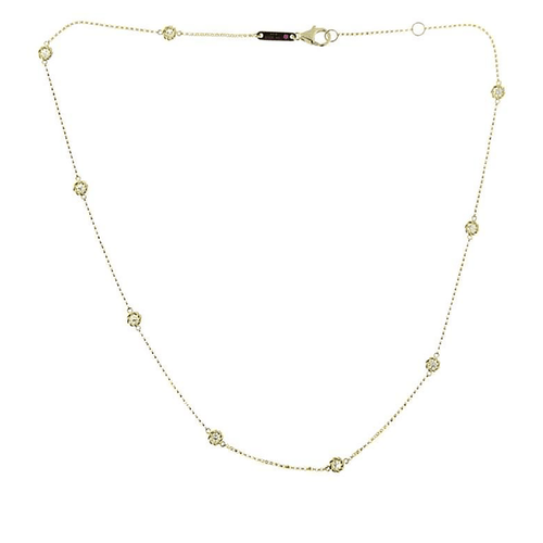 18k Yellow Gold & Diamond Necklace - 7771333AYCHX-Roberto Coin-Renee Taylor Gallery