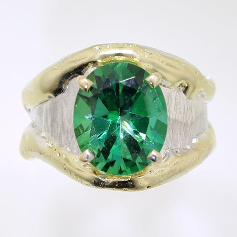 Rainforest Green Topaz Ring - 31968 - Fusion Designs - Renee Taylor Gallery