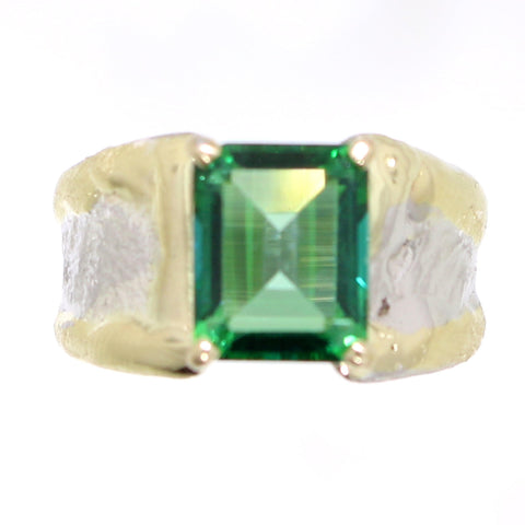 Rainforest Green Topaz Ring - 31969 - Fusion Designs - Renee Taylor Gallery