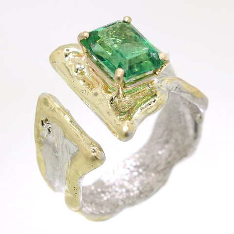 Rainforest Green Topaz Ring - 31971 - Fusion Designs - Renee Taylor Gallery