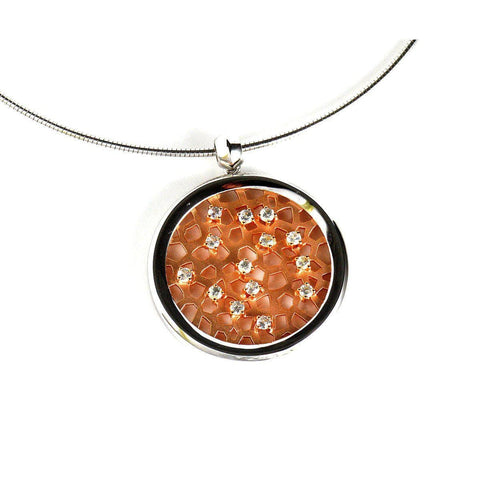 Rose Gold Plated Sterling Silver Sapphire Pendant - 32/85840-RH/R-Breuning-Renee Taylor Gallery