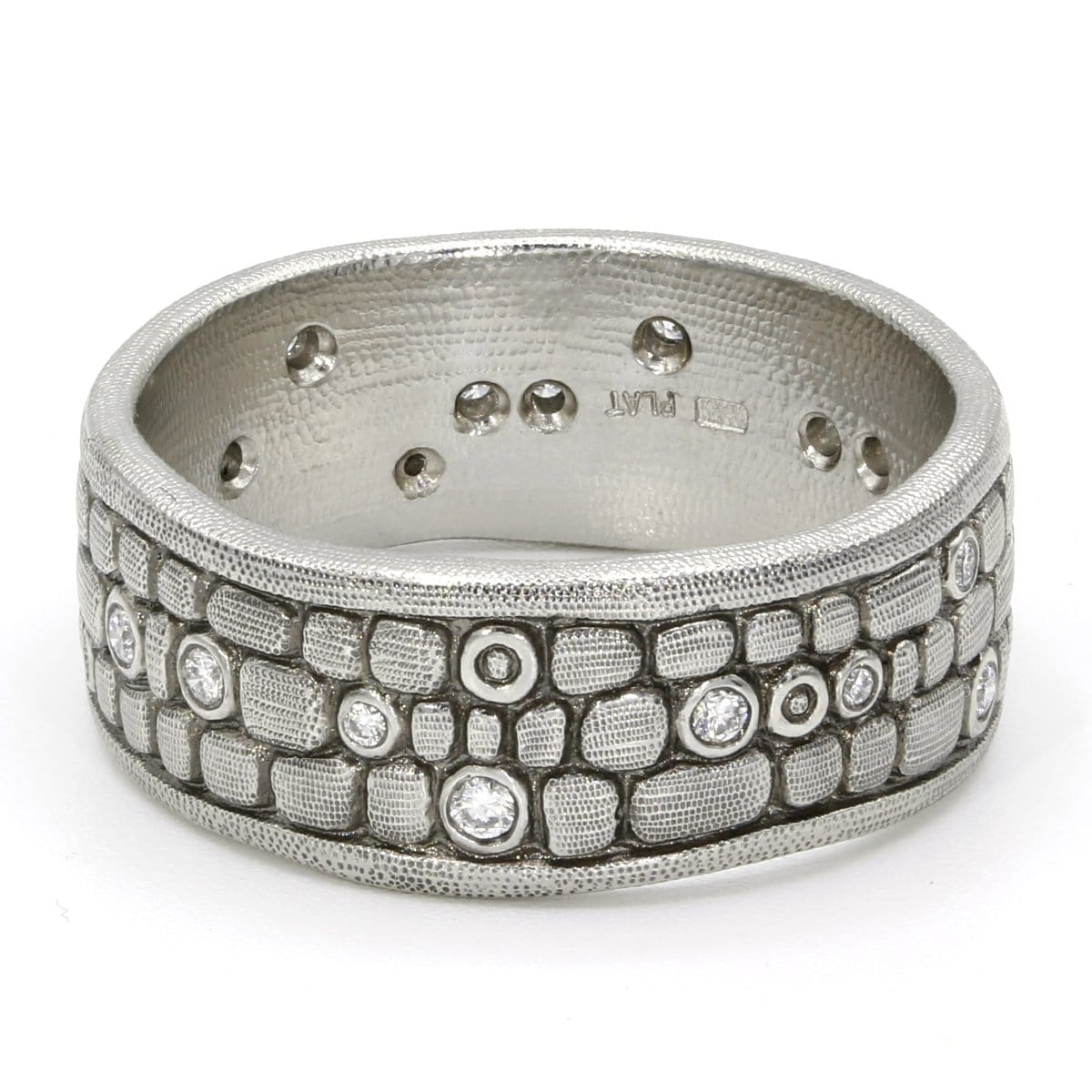 Platinum Old Bridge Diamond Band - R-125P