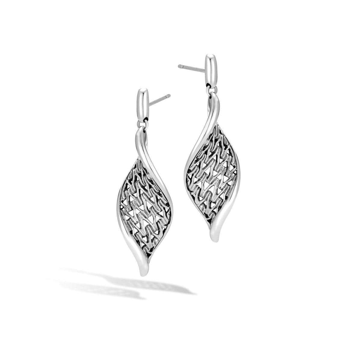 Classic Chain Wave Drop Earring - EB999742-John Hardy-Renee Taylor Gallery