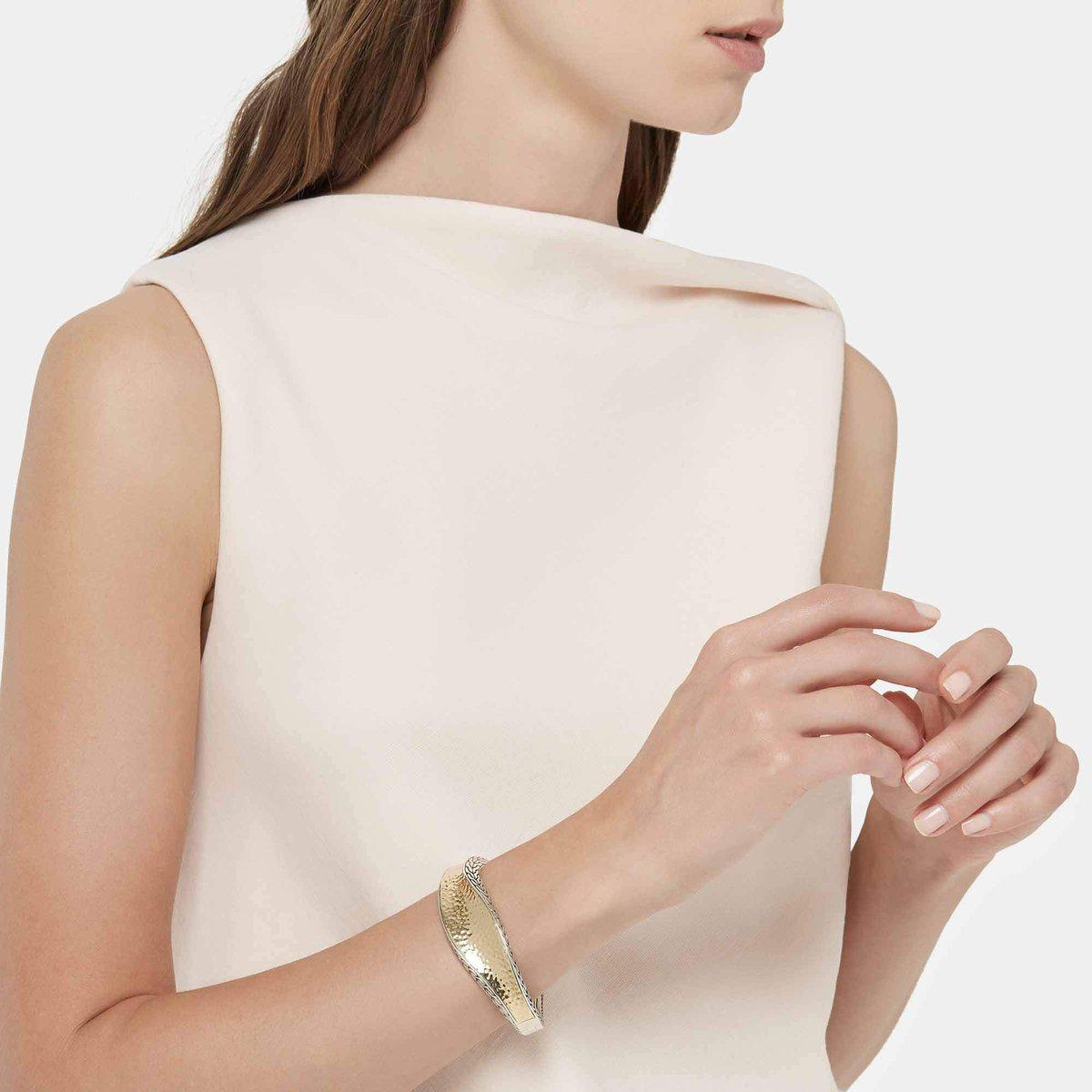 Classic Classic Wave Hammered Kick Cuff - CZ90085-John Hardy-Renee Taylor Gallery