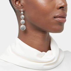 Dot Moon Phase Hammered Drop Earring - EB39059-John Hardy-Renee Taylor Gallery