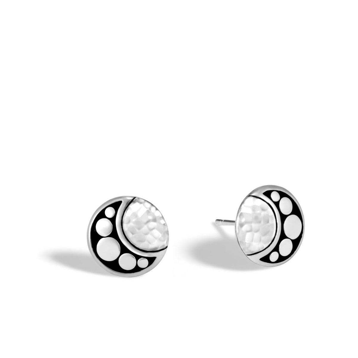 Dot Moon Phase Hammered Stud Earring - EB30003-John Hardy-Renee Taylor Gallery
