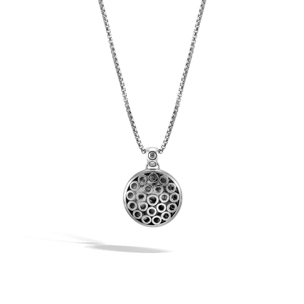 Dot Moon Phase Hammered Pendant Necklace - NB39058-John Hardy-Renee Taylor Gallery