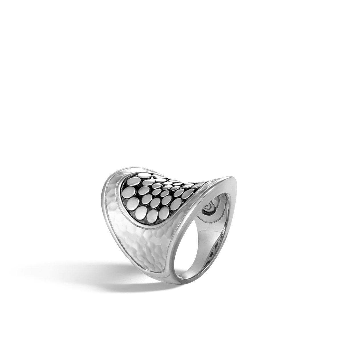 Dot Hammered Saddle Ring - RB30007-John Hardy-Renee Taylor Gallery