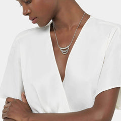 Classic Chain Hammered Bib Necklace - NB999739-John Hardy-Renee Taylor Gallery