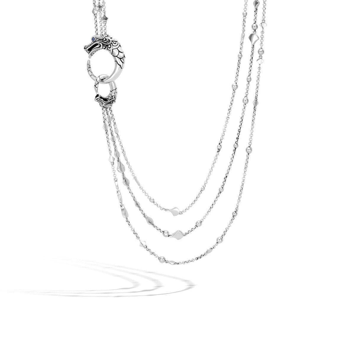Legends Naga Multi Row Necklace - NBS6639BSP-John Hardy-Renee Taylor Gallery
