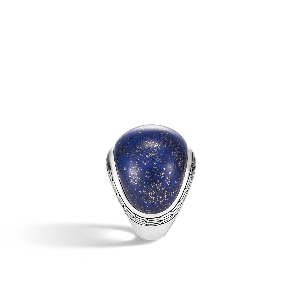 Classic Chain Dome Ring with Lapis Lazuli - RBS9997371LPZ-John Hardy-Renee Taylor Gallery