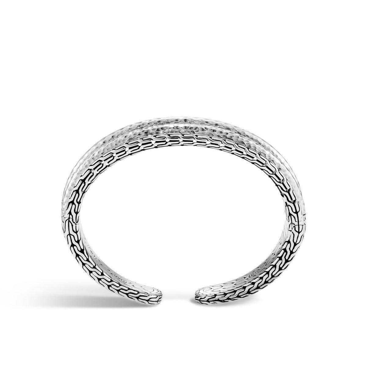 Classic Chain Hammered Cuff - CB90037-John Hardy-Renee Taylor Gallery