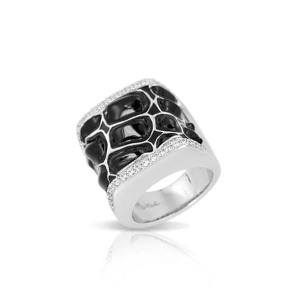 Coccodrillo Black Ring-Belle Etoile-Renee Taylor Gallery