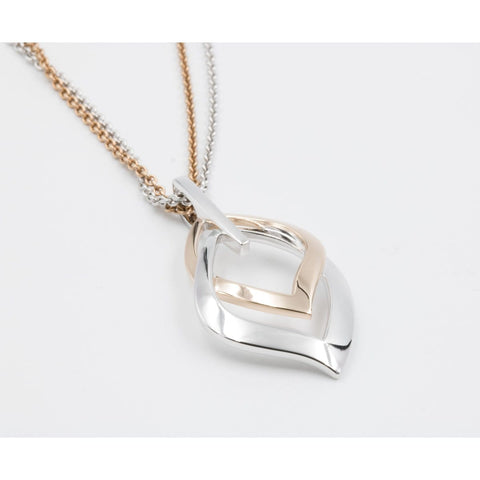 Rose Gold Plated Sterling Silver Pendant - 34/01730 - Breuning