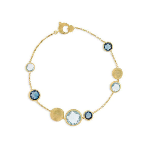 18K Jaipur Mixed Blue Topaz Bracelet - BB1485 MIX725 Y - Marco Bicego