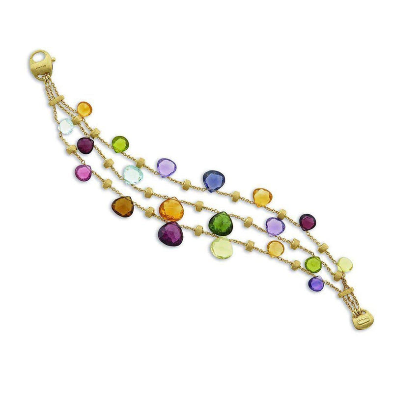 18K Paradise Mixed Stones Bracelet - BB2009 MIX02S Y-Marco Bicego-Renee Taylor Gallery