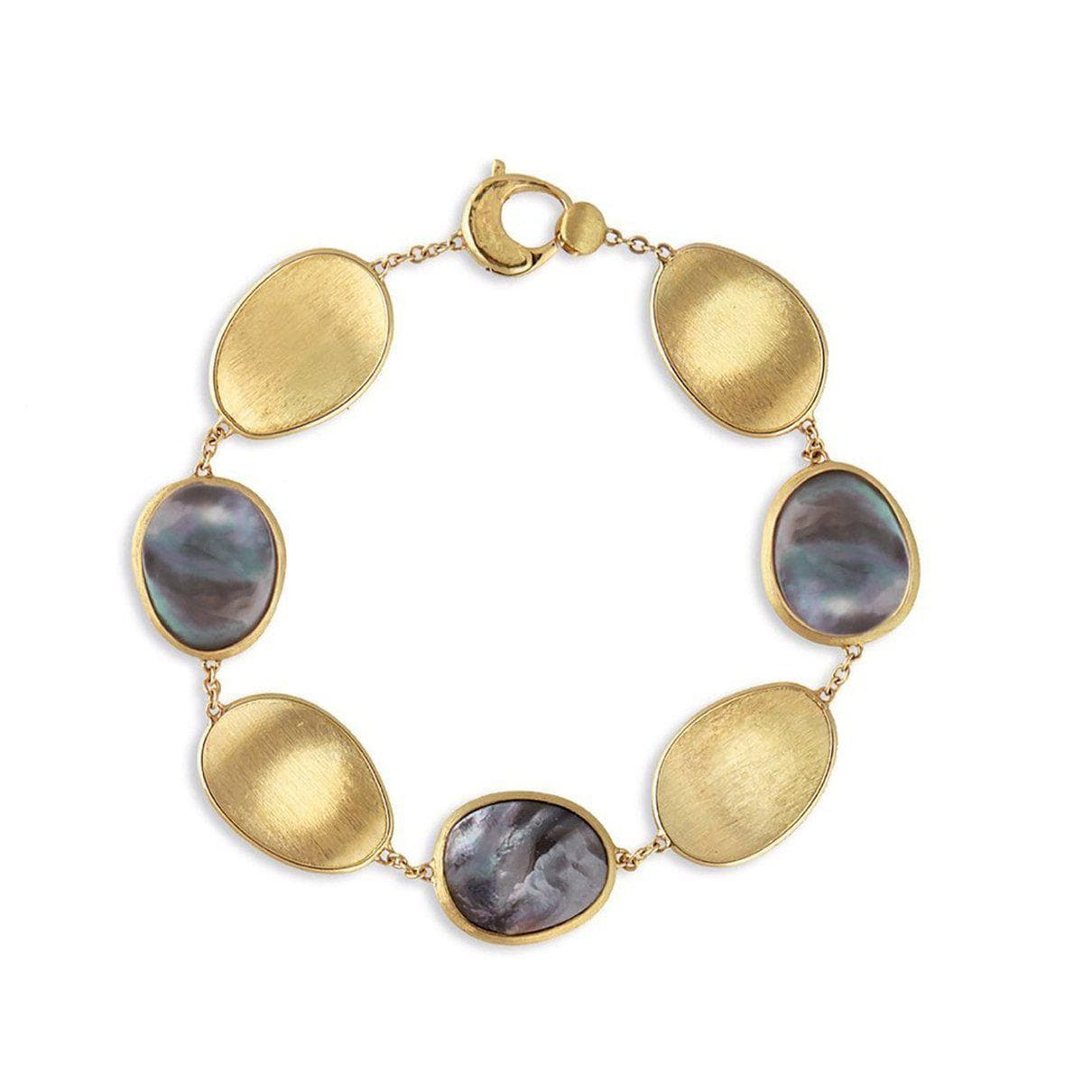 18K Lunaria Black Mother of Pearl Bracelet - BB2099 MPB Y-Marco Bicego-Renee Taylor Gallery